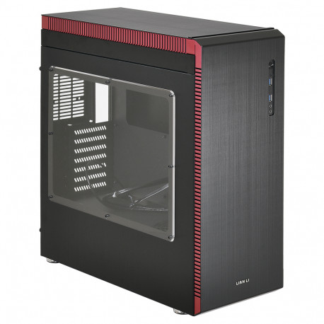 Lian Li PC-J60WRX računalno kućište Midi kućište Crno, Crveno