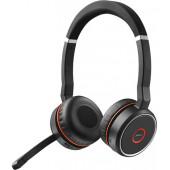 Jabra Evolve 75 MS Stereo Slušalice Obruč za glavu Crno, Crveno