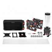 Thermaltake Pacific Gaming RL240 D5 Hard Tube Water Cooling Kit, water cooling (Black / Red)