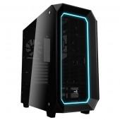 Case Aerocool P7-C0, ATX / Mid Tower / side window / RGB LED (črno)
