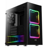 Case Aerocool TOR, ATX / Mid Tower / side window / RGB LED (black)