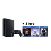 GAM SONY PS4 500GB + GT Sport + Horizon Zero + Uncharted 4