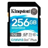 Kingston 256GB SDXC Canvas Go Plus 170R C10 UHS-I U3 V30 EAN: 740617301519