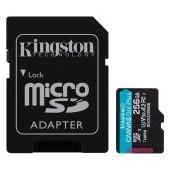 Kingston 256GB microSDXC Canvas Go Plus 170R A2 U3 V30 Card + ADP EAN: 740617301250