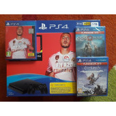 GAM SONY PS4 1TB + FIFA 20 + 2 igre: God of War 3 + Horizon Zero
