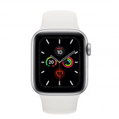Watch Apple Watch Series 5 GPS 40mm Silver Aluminum Case with Sport Band - White EU