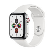 Watch Apple Watch Series 5 GPS 44mm Silver Aluminum Case with Sport Band - White EU