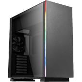 Kućište AEROCOOL Glo Black, RGB, kaljeno staklo, bez napajanja