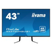 "IIYAMA Monitor 43"", 3840x2160 UHD, IPS, 4ms, 450cd/m², HDMIx2, DisplayPortx2, Speakers,  USB-HUB(2x3"
