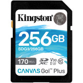 Kingston Canvas Go! Plus SD, R170MB/W90MB, 256GB