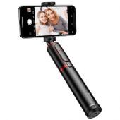 Selfie stick BASEUS SelfieSTAR PRO, Fully Folding (black-red)