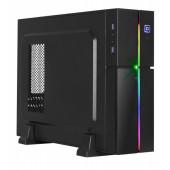 Case Aerocool PLAYA SLIM, mATX / Slim Tower / RGB LED (black)