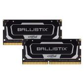 Crucial DRAM Ballistix Black 2x32GB (64GB Kit) DDR4 3200MT/s  CL16  Unbuffered SODIMM 260pin Black,