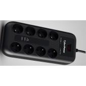 CyberPower prenaponska zaštita, P0820SUF0-DE, 8x šuko, 2x USB charger