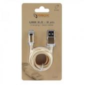 SBOX kabel USBuiPh.7 M/M 1,5M Blister zlatni,2kom