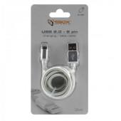 SBOX kabel USBuiPh.7 M/M 1,5M srebrni, 2kom
