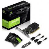 NVIDIA Video Card Quadro P1000 GDDR5 4GB/128bit, 640 CUDA Cores, PCI-E 3.0 x16, 4xminiDP, Cooler, Si