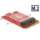 Adapter DELOCK, Mini PCIe (M) na M.2 kod E utor, USB 2.0/PCIe