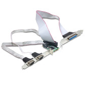Adapter DELOCK, MiniPCIe I/O PCIe full size 2 x Serial RS-232 + 1 x Parallel