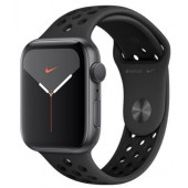 Watch Apple Watch Nike Series 5 GPS 44mm Silver Aluminum Case with Sport Band - Black EU