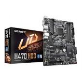 GigaByte MB H470 HD3, S.1200, DDR4/2933, PCIe, SATA3, M.2, G-LAN, RAID, VGA/DVI-D/HDMI, USB3.2, USB Type-C, 7.1ch., ATX