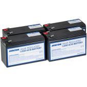Avacom baterija kit za APC RBC24 (4 bater.)