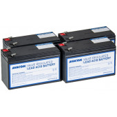Avacom baterijski kit za APC RBC116 (4 bater.)