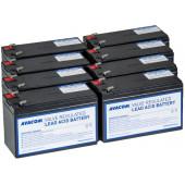 Avacom baterijski kit za APC RBC105 (8 bater.)