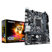 GIGABYTE Main Board Desktop Intel H310 (S1151v2, 2xDDR4, Realtek ALC887, 1x10/100/1000 Mbit, 1xPCIEX