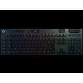 Tipkovnica LOGITECH Gaming G915 Lightspeed Clicky, RGB, mehanička, bežična, USB, crna