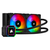 Corsair iCUE H100i ELITE CAPELLIX, 240mm Radiator, Dual 120mm ML RGB Fans, Software Control