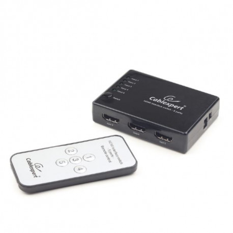 Gembird HDMI interface switch, 5 ports Infrared remote control
