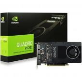 NVIDIA Video Card Quadro P2200 GDDR5X 5GB/160bit, 1280 CUDA Cores, PCI-E 3.0 x16, 4xDP, Cooler, Sing