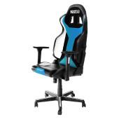 SPARCO GRIP SKY gaming stol črno - svetlo modre barve