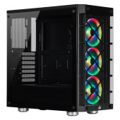 Corsair Crystal 465X RGB Tempered Glass Mid-Tower Smart Case, Black