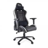 WHITE SHARK gaming stolica NITRO GT crno-bijela