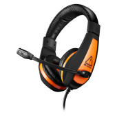 CANYON Gaming headset 3.5mm jack with adjustable microphone and volume control, with 2in1 3.5mm adap