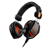 CANYON Gaming headset 3.5mm jack with microphone and volume control, with 2in1 3.5mm adapter, cable