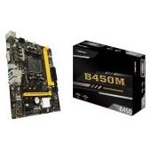 BIOSTAR Main Board Desktop B450, AM4, 2xDDR4, VGA/HDMI, 1xPCIe x16, 2xPCIe x1, 1xM.2, 4xSATA, GbE LA
