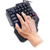 INTER-TECH KB-3035 RGB Gaming Keypad, 35 keys, 3 lighting modes, palm rest, retail