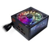 INTER-TECH Power Supply Argus RGB-650W CM II, 650W, 80+ GOLD, Modular, RGB, 140mm fan