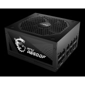 MSI MPG A650GF Power Supply 650W, 80 PLUS Gold, Japanese capacitors, Fully Modular, Flat Black Cable