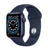 Watch Apple Watch Series 6 GPS 44mm Blue Aluminium Case with Sport Band - Deep Navy EU