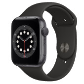 Watch Apple Watch Series 6 GPS 44mm Grey Aluminium Case with Sport Band - Black EU
