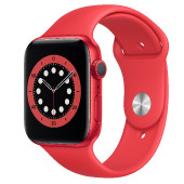 Watch Apple Watch Series 6 GPS 44mm Red Aluminium Case with Sport Band - Red EU