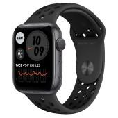 Watch Apple Watch Series 6 Nike GPS 44mm Silver Aluminium Case with Sport Band - Black EU