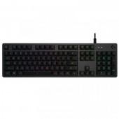 Tipkovnica LOGITECH Gaming G512 Carbon, RGB, mehanička, GX Red Linear, US layout, crna