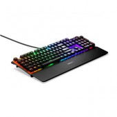 Tipkovnica STEELSERIES Apex 7, RGB, mehanička, Red switch, US layout, USB, crna