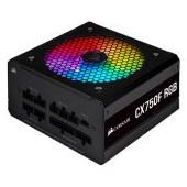 Corsair PSU CX750F 750W modular RGB 80+ Bronze 120mm, RGB Led, Black