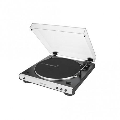 Gramofon Audio-Technica AT-LP60XBTWH, Bluetooth, črno-bel